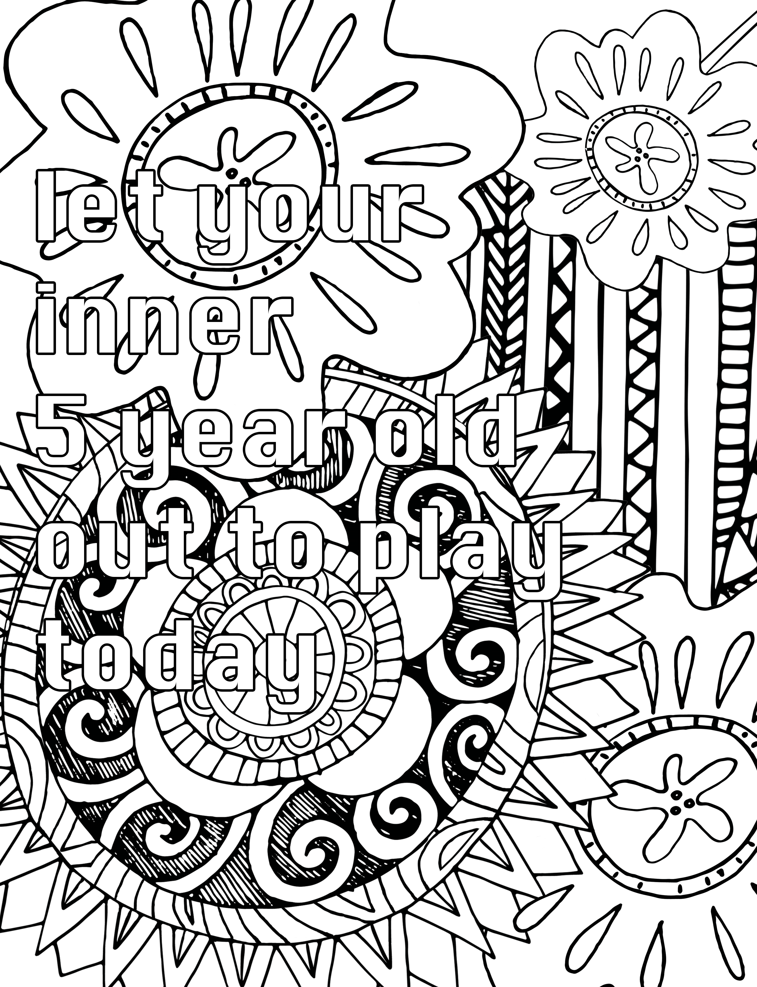 Colorist Heaven Volume 2 Adult Coloring Book Pages Coloring Book Pages Word Doodles
