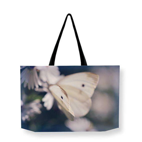 303534201 Butterfly Canvas Weekender Bag, Beach BAG, Shoulder Bag, Printed Overnight  Bag, Blue Travel Bag, Nature Carry On Bag, Large Canvas Bag #ShoulderBag ...