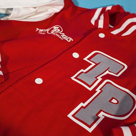 TWIN PEAKS VARSITY jacket, college jacket, personalized jacket, 90s varsity, varsity man, 90s woman jacket, 90s man jacket, retro jacket