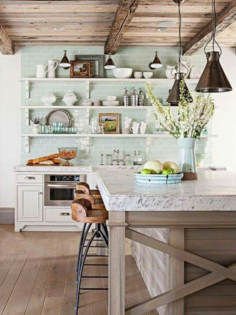 30 Modern Rustic Kitchen Decor Open Shelves Ideas Rustic