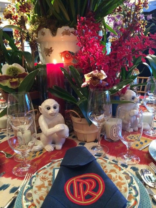 New York Botanical Garden Annual Orchid Dinner #Danielle Rollins #Veranda #gardening #tabletop #entertaining #tablescape