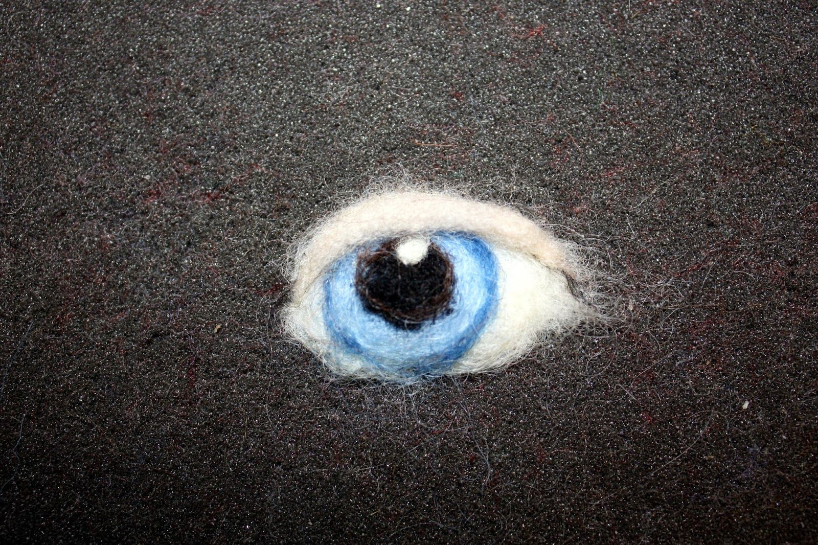The Felted Gnome Knows: How to Needle Felt a Realistic Eye #realisticeye