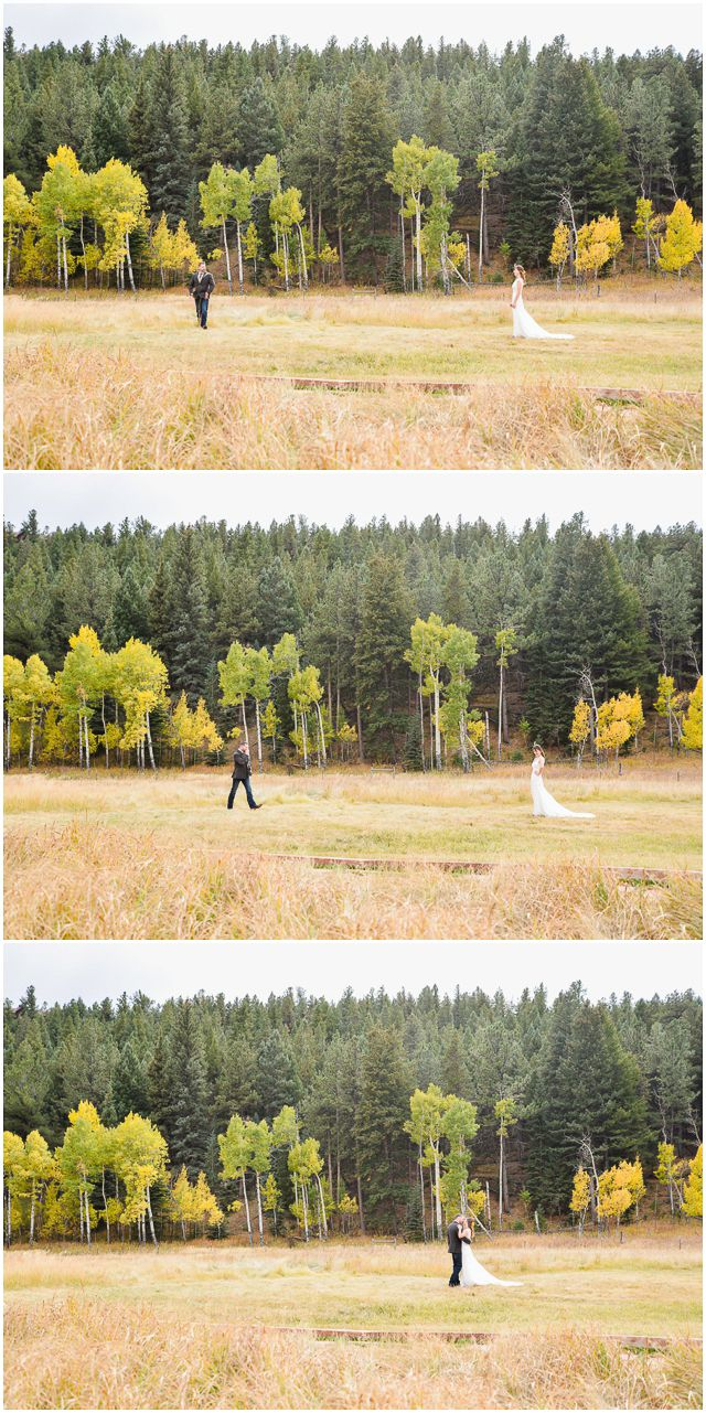 Garden trees background  First look love Beautiful fall wedding at Deer Creek Valley Ranch