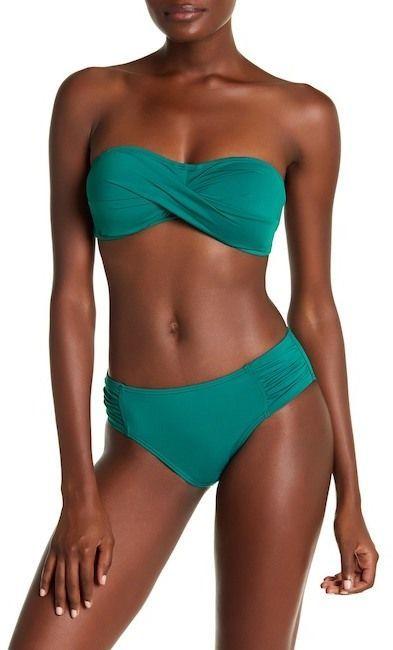 b565e919ddbe7 Tommy Bahama Pearl Side Shirred Bikini Bottoms High Waisted Bikini Bottoms