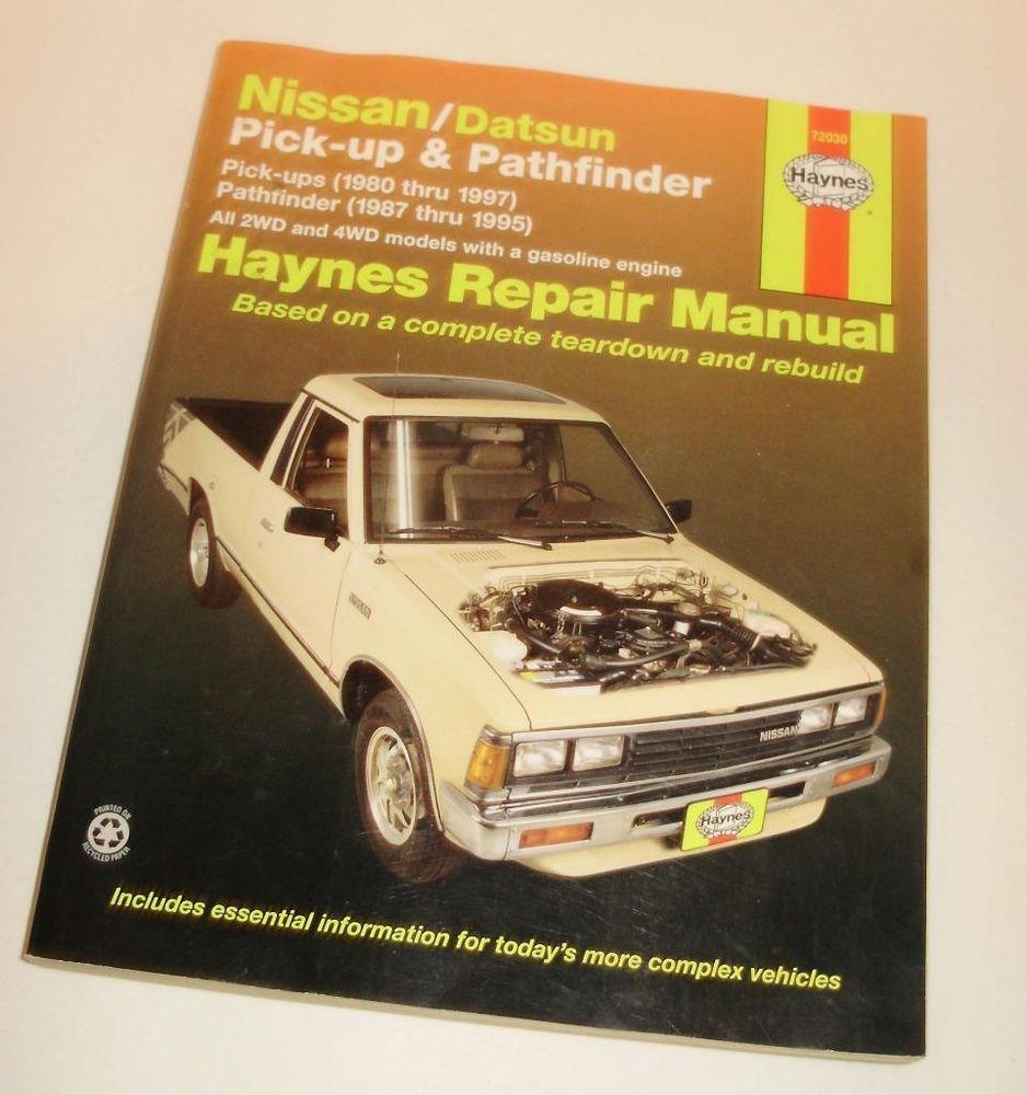 nissan datsun pick up pathfinder haynes repair manual 1980 thru rh pinterest com au 2001 Nissan Pathfinder Manual PDF Nissan Pathfinder Owner's Manual