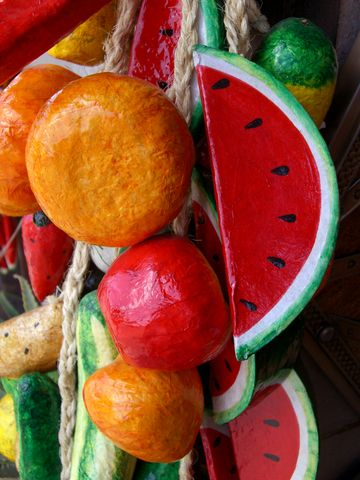 how to make paper mache food