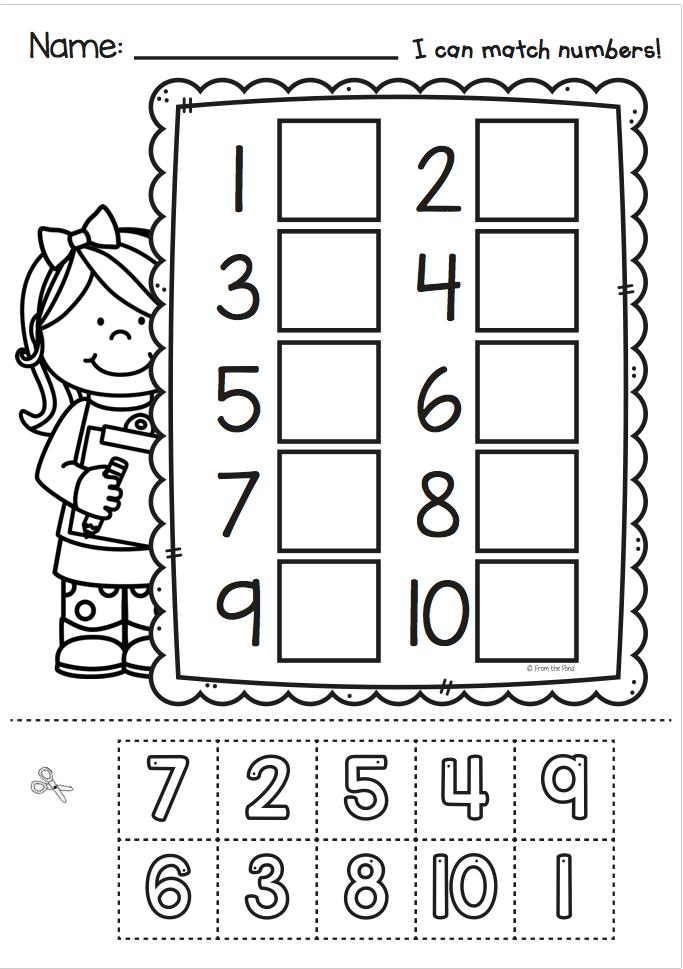 No Prep Worksheet Activities for Kindergarten - Cut and Glue ...