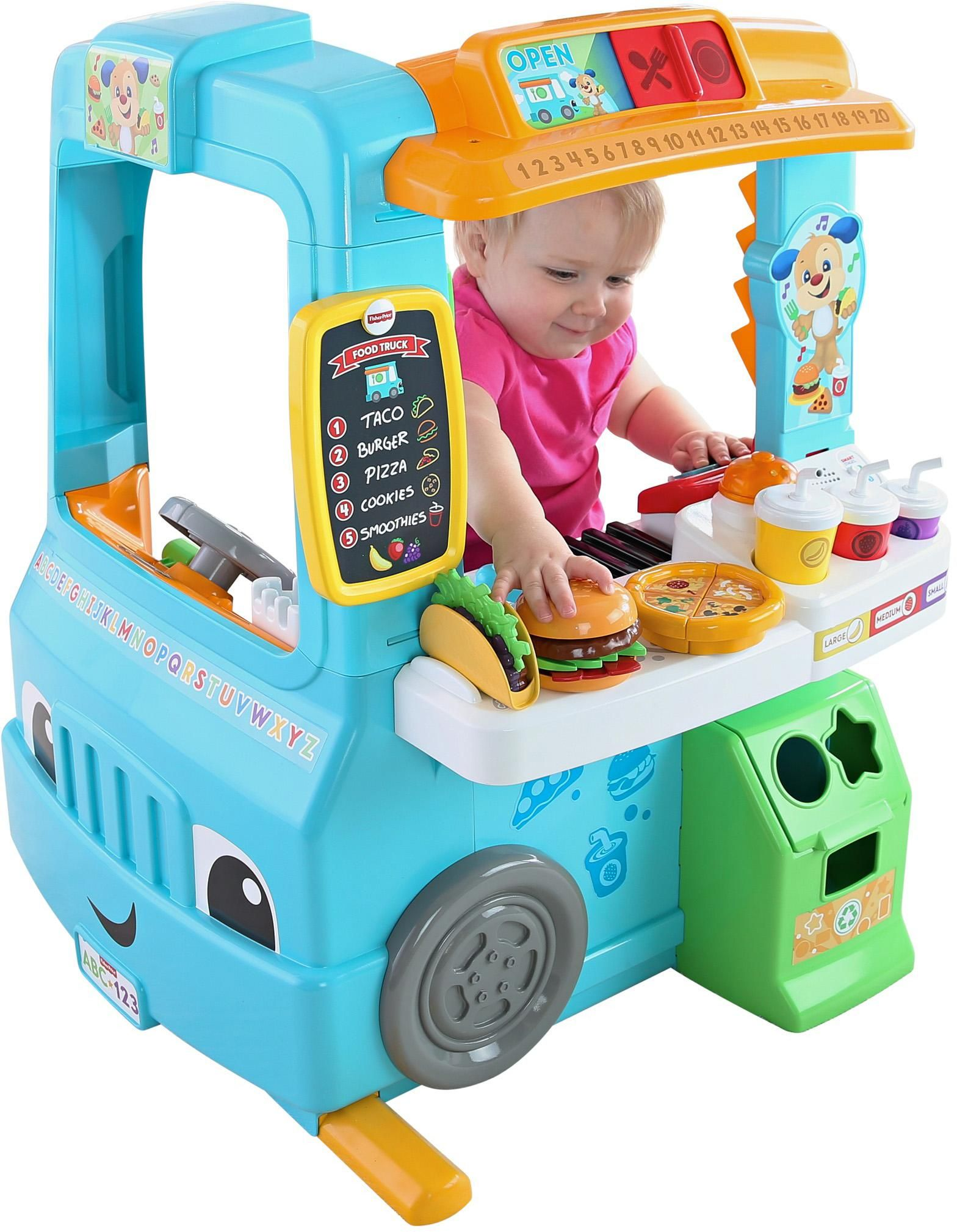 Amazon.com: Fisher-Price Laugh & Learn Servin' Up Fun Food ...