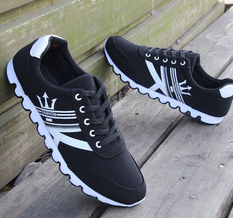 2016 New Fashion Canvas Men Casual Shoes Breathable Blue Black Lacing Flat  Sport Travel Shoes For