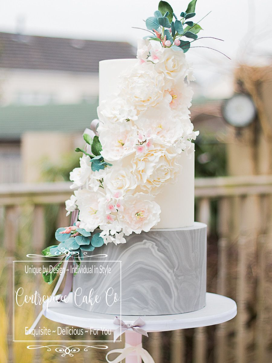 A real on trend wedding cake from www.centrepiececake.co.uk Marble ...