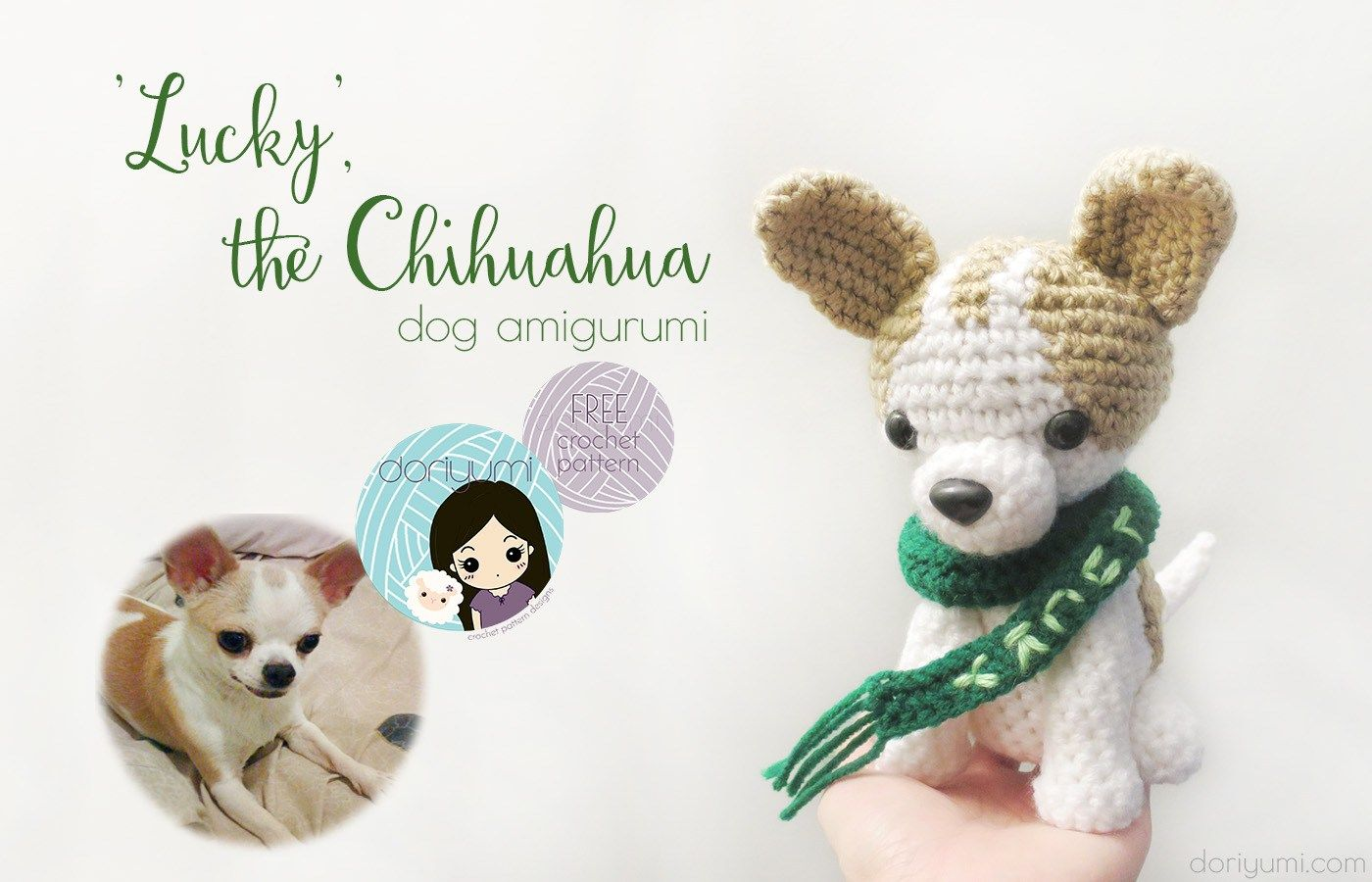 Lucky the Chihuahua - free crochet pattern by DORIYUMI
