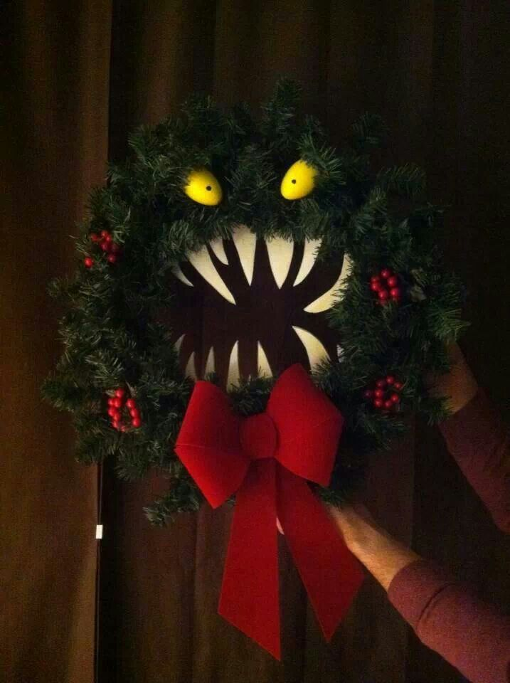 Halloween decoration from Nightmare Before Christmas! - 10 Easy Christmas Ideas If You Are Feeling All Bah Humbug HOLIDAYS