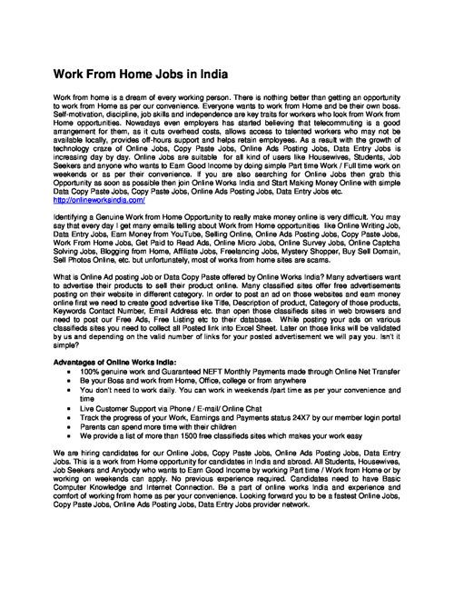 FlipSnack | Work From Home Jobs in India by onlineworksindia ...