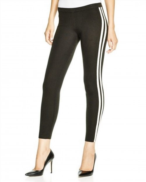 33.00$  Watch now - http://viihx.justgood.pw/vig/item.php?t=rz6a6dz7621 - HUE Racer Stripe Sweater Leggings Black White Small Brand New without Tags!