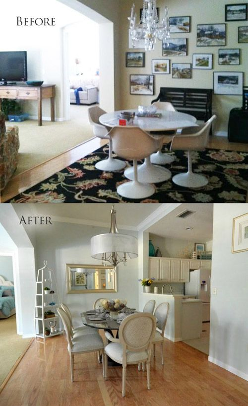 before after dining room mhm professional staging llc home