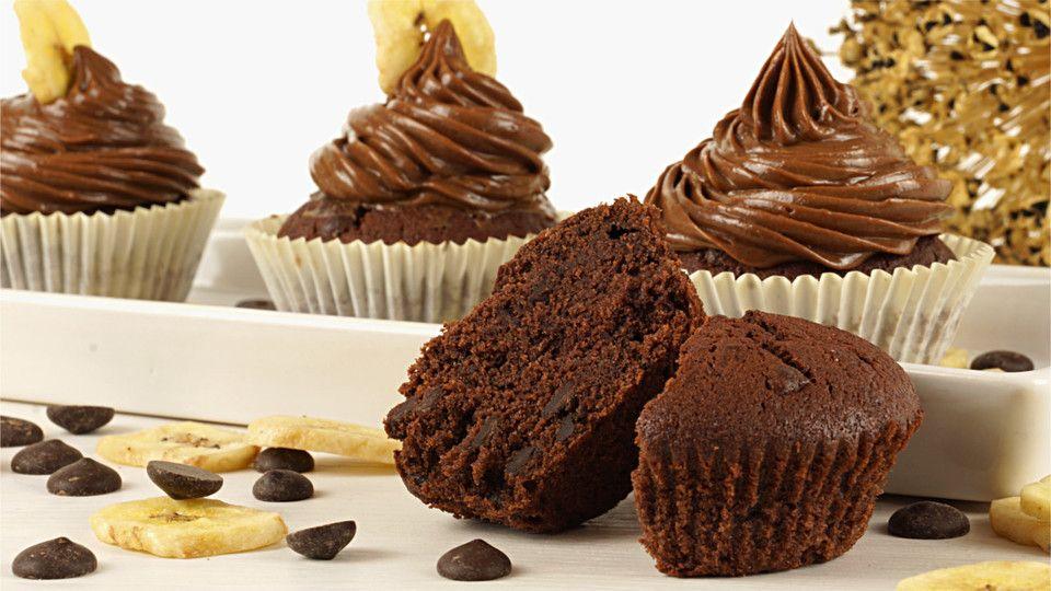 Schokoladen-Bananen-Muffins oder Cupcakes Muffin - chefkoch käsekuchen muffins