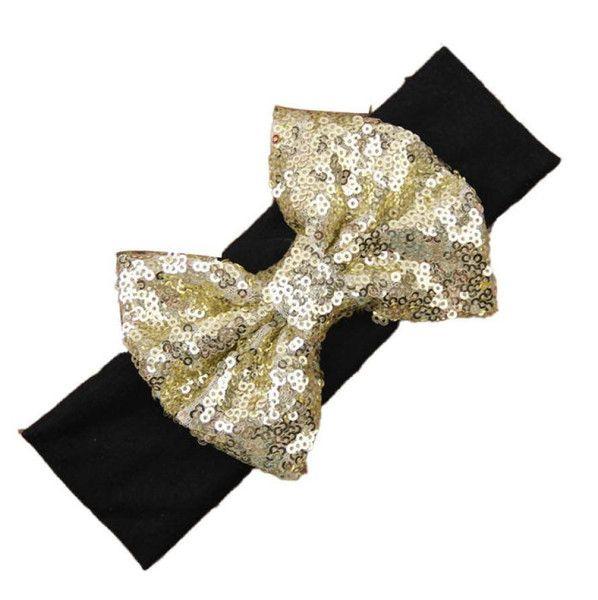 Cute Gold Sequin Baby Headband