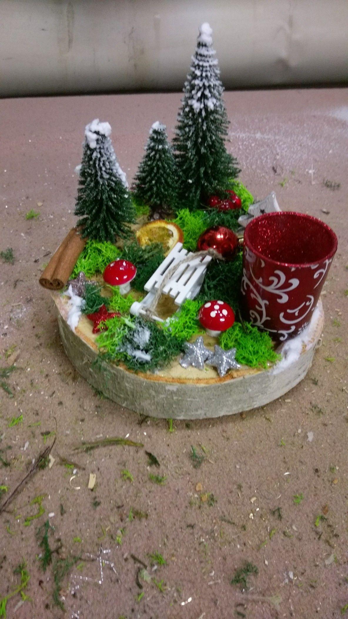 #herbstdekotischtablett #adventskranzaufbaumscheibe