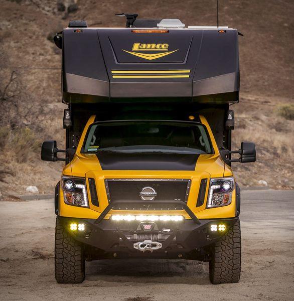 hellwig titan xd camper slide in truck campers nissan titan xd nissan titan truck pinterest