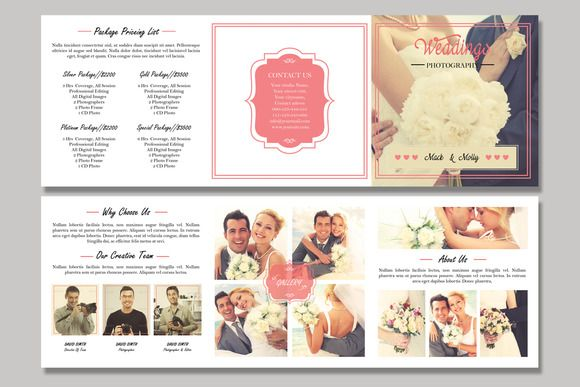 Square Trifold Wedding BrochureV  Brochure Templates On