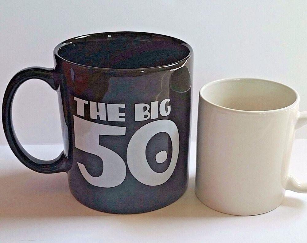 50th birthday big 50 coffee mug cup large happy birthday
