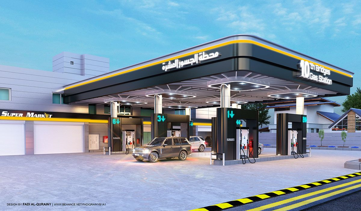 10th Bridges Gas Station Proposal On Behance Zdaniya Arhitektura Dizajn