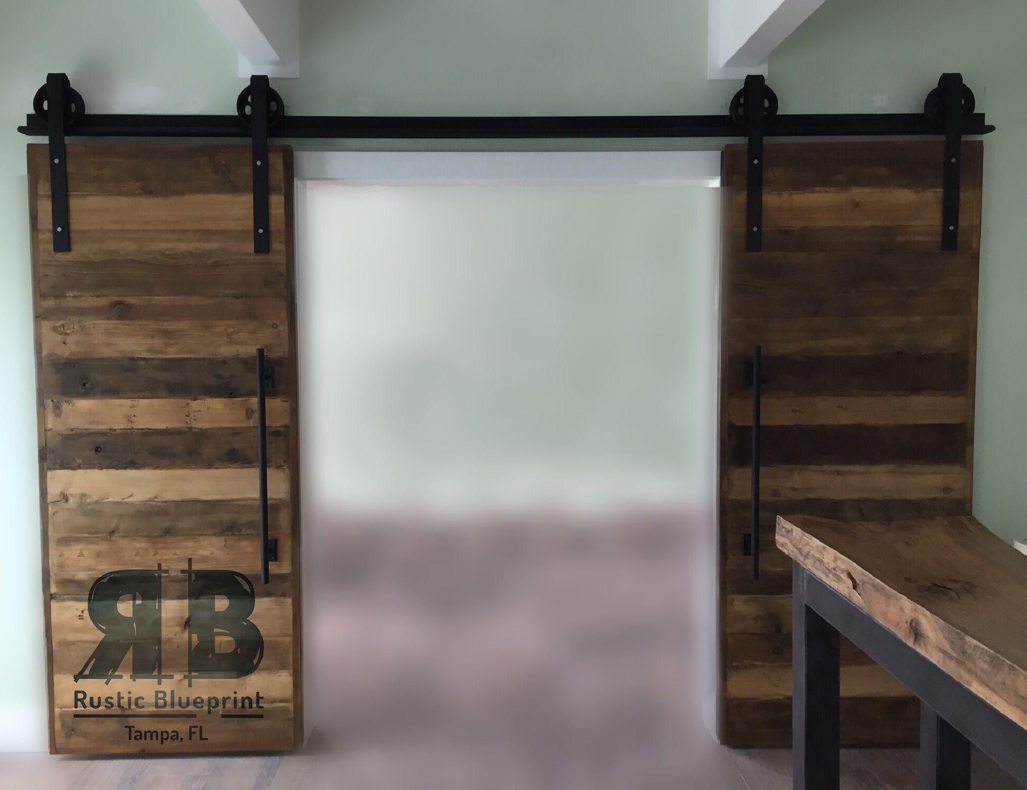 Reclaimed wood barn doors built by rustic blueprint tampa fl reclaimed wood barn doors built by rustic blueprint tampa fl malvernweather Choice Image