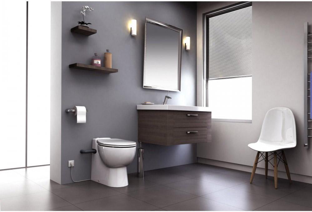 Wc A Poser Avec Broyeur Integre Sfa Sanicompact 555 Wc A Poser Toilettes Et Sanibroyeur