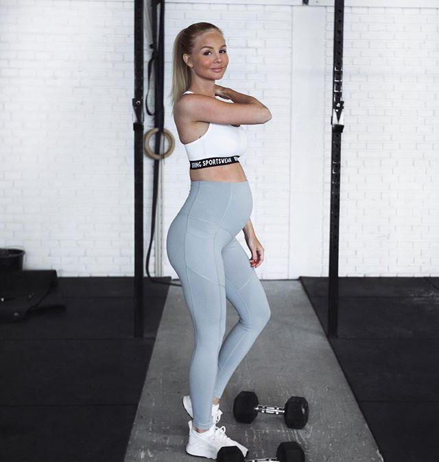 be9bd6afd13c1 alexandrabring in the Grey Pregnancy Tights   Bring Sportswear ...