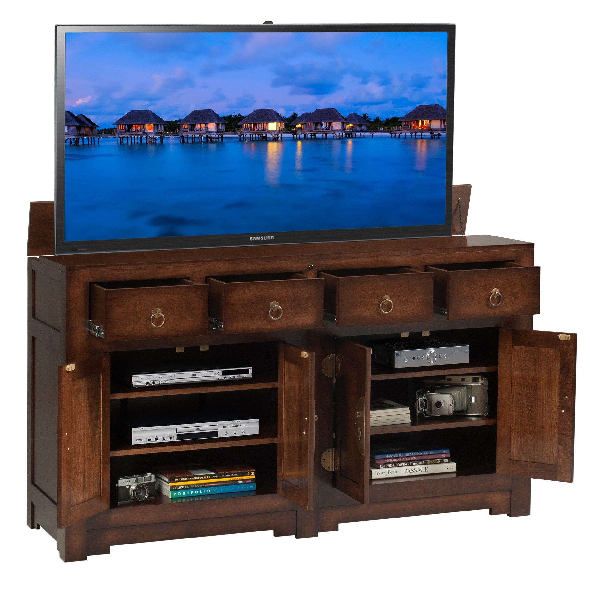 tv lift cabinet build