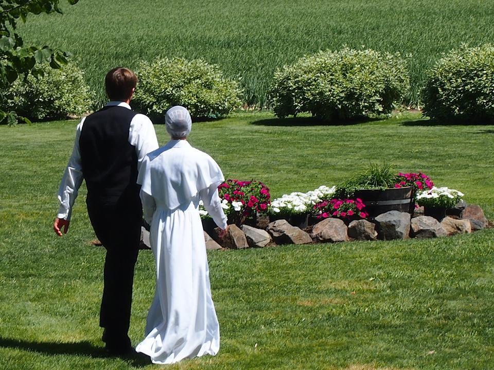 Amish Wedding | Beautiful Amish Wedding Dress This Is A Wedding In Washington State
