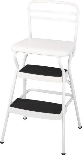 Amazon.com: Cosco Retro Counter Chair/Step Stool With Lift Up Seat, White:  COSCO PRODUCTS: Home Improvement