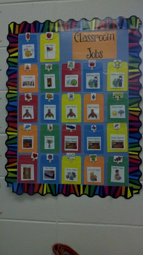 Pre k classroom jobs chart ideas for a elementary class