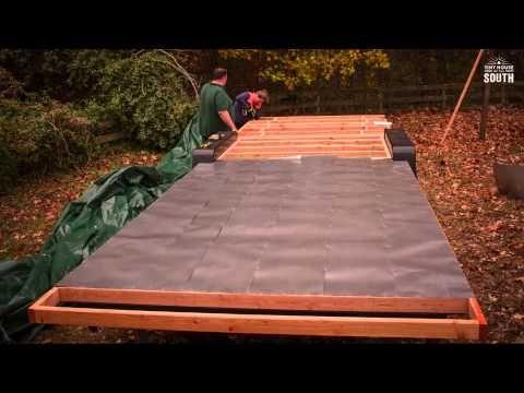 Tiny House Subfloor Construction Part II Flashing Tiny house