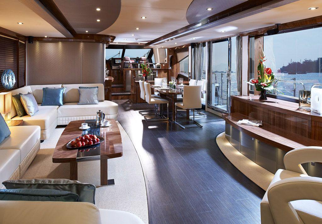 Luxusyachten innen  Sunseeker 28m Main Saloon #theyachtownernet #theyachtowner ...