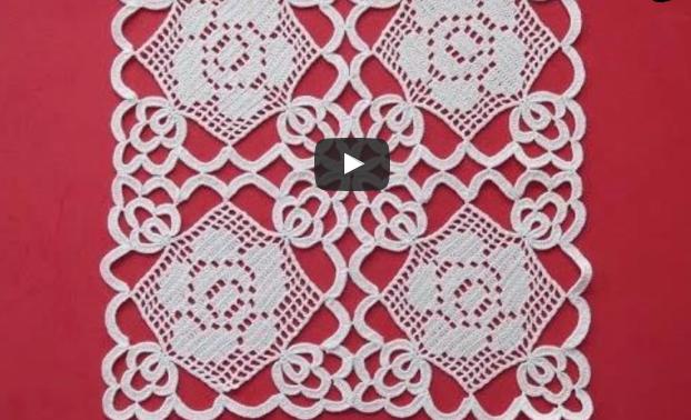 Motifli Dantel Oda Takımı Yapılışı Anlatımlı Türkçe Videolu