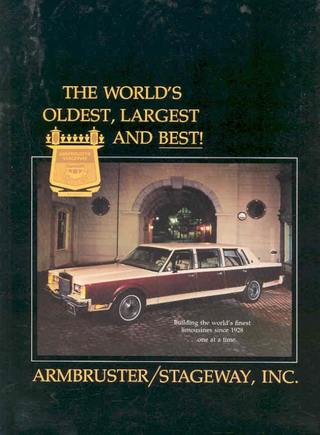 1980 Lincoln Continental Town Car Stretch Limousine By Armbruster