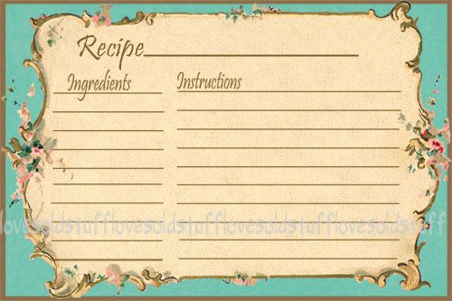 Editable Recipe Card Template Printable Index Card Size 3x5 Etsy In 2021 Recipe Cards Template Card Templates Printable Printable Recipe Cards
