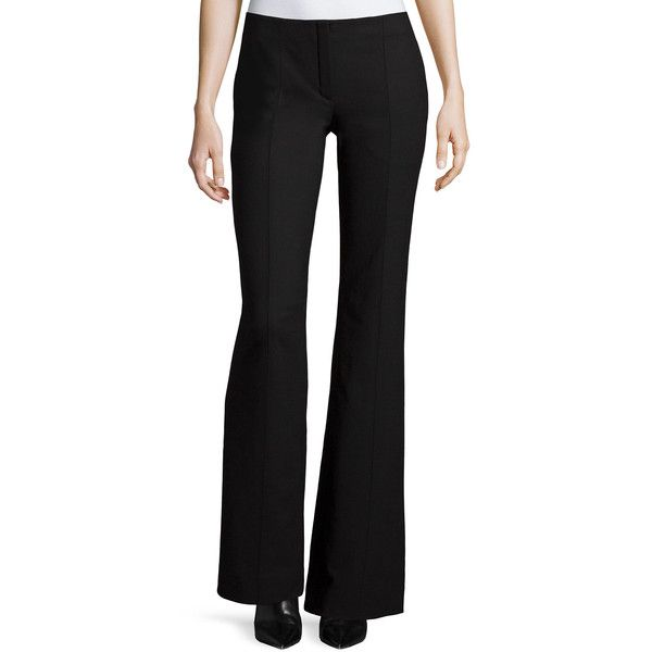 Low rise bootcut black trousers