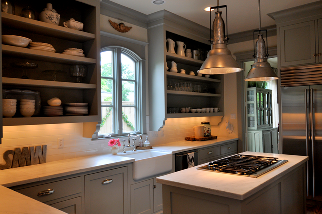 Beautiful Cabinets: BM Fieldstone Walls: Vapor Trails (got This Color From A Copycat  Kitchen Photo Gallery