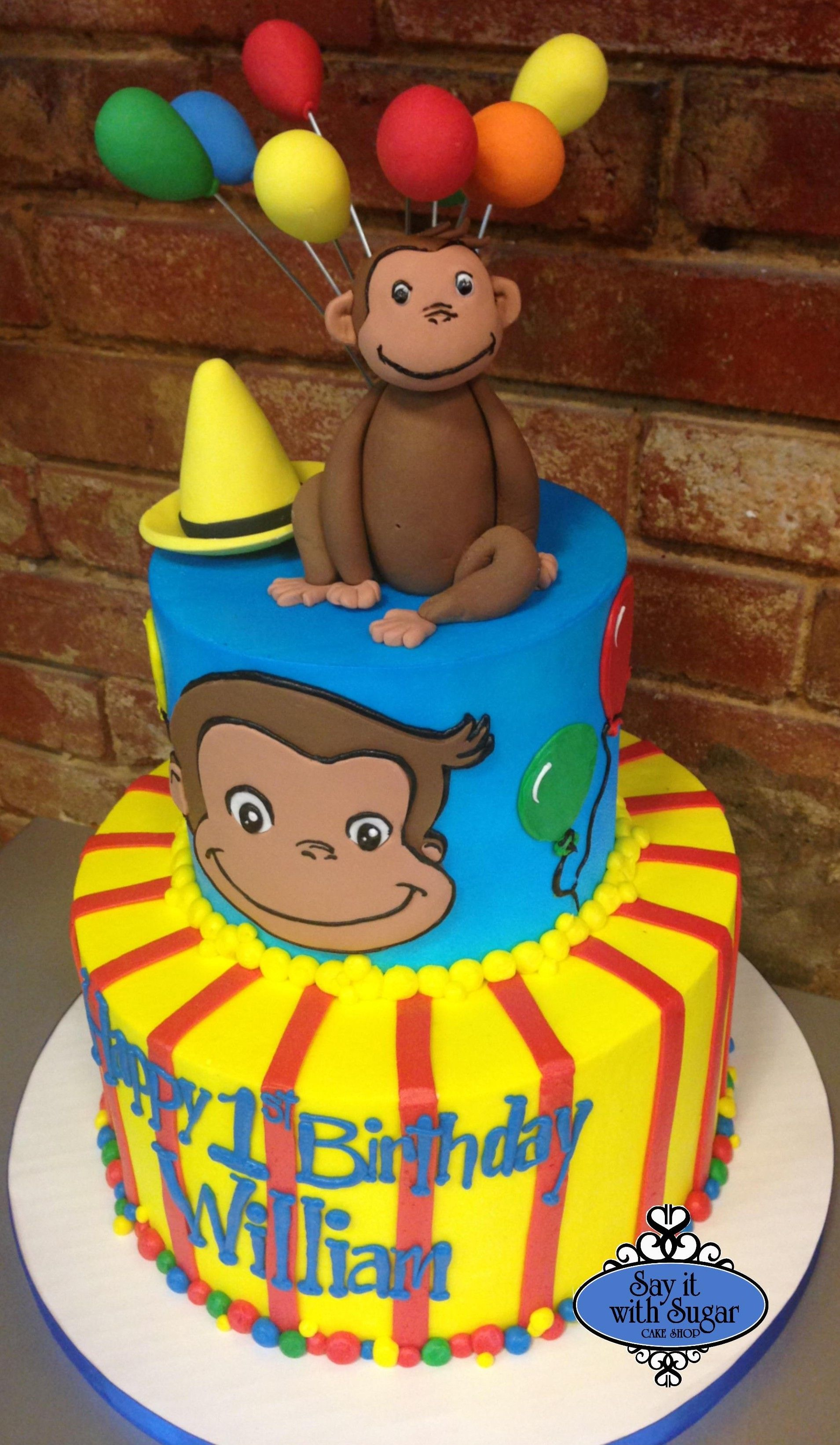 Curious George Cake By Say It With Sugar Cake Shop North Dallas