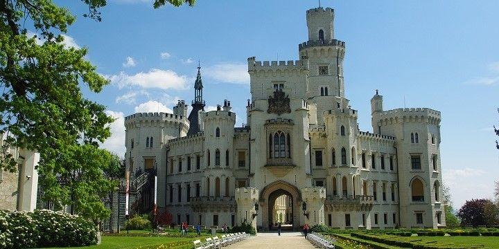 Hluboká Castle, Hluboká, Czechia, Europe