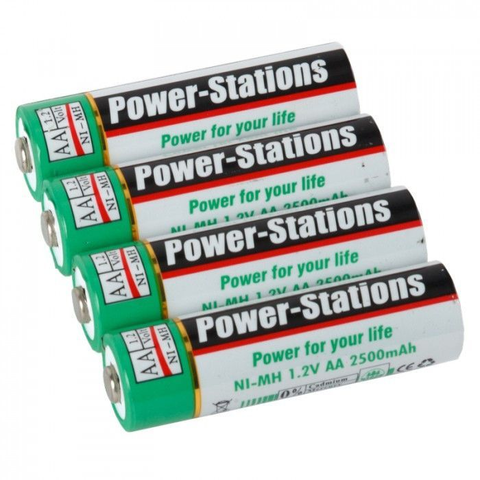 Studio Assets Power-Stations Ni-MH 2500mAh AA Rechargeable Batteries (4-pack)