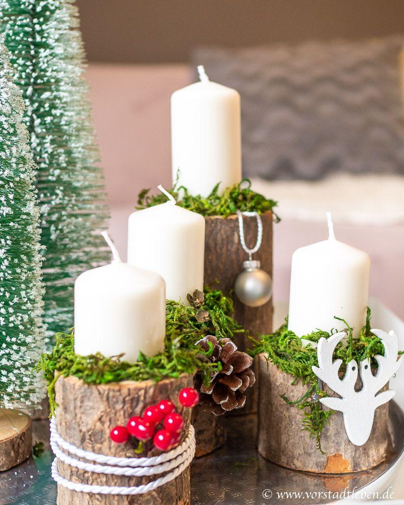 Gemütliche Stimmung mit Naturmaterialien - Adventsgesteck DIY #weihnachtsbastelnnaturmaterialien