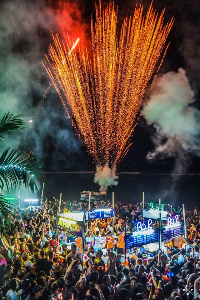 2016, New Year Countdown Party at ArkBar,Chaweng Beach
