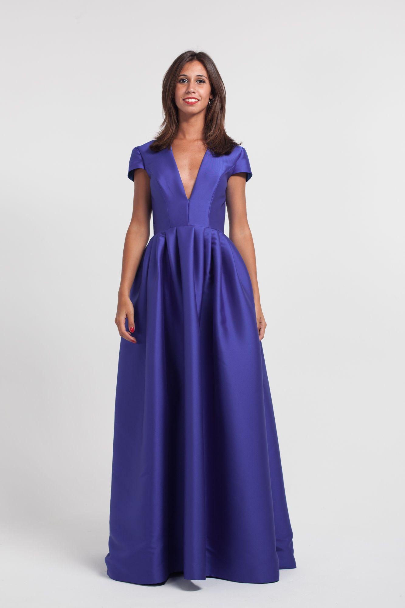 Vestido de encaje púrpura | Vestidos largos en alquiler | Pinterest ...