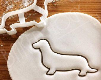 Dachshund Dog cookie cutter | biscuit | fondant | clay cheese cutter - wiener Dackel Teckel Badger Weenie Bassotto Sosis Perro Salchicha