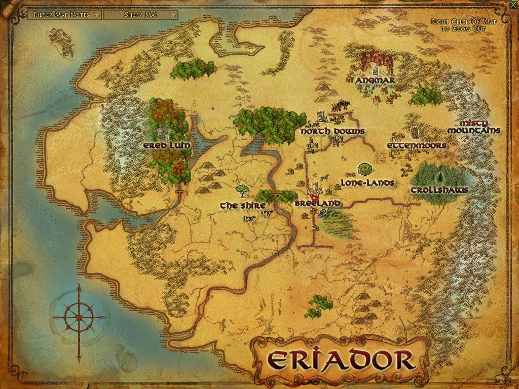 Lord Of The Rings Online World Map.Lord Of The Rings Map Of Middle Earth Visions Of The Ring