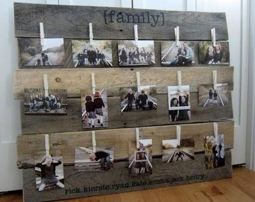 wanddekoration europaletten upcycled kunst familie collage, Best garten ideen