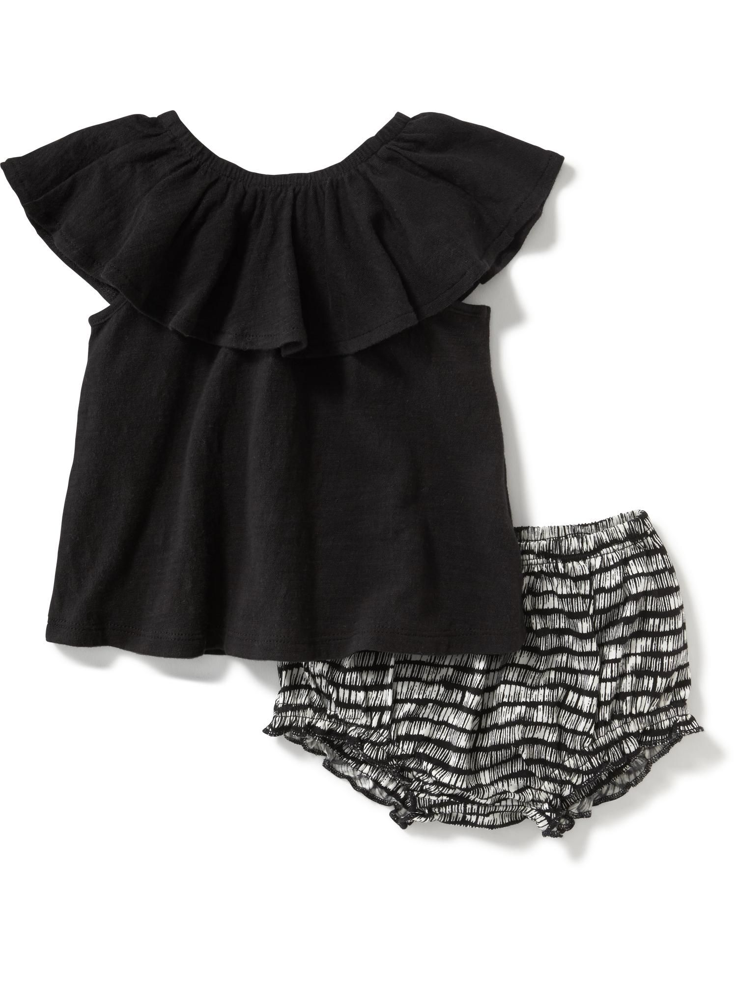 Ruffle Top & Bloomer Set for Baby Old Navy Jean Bean
